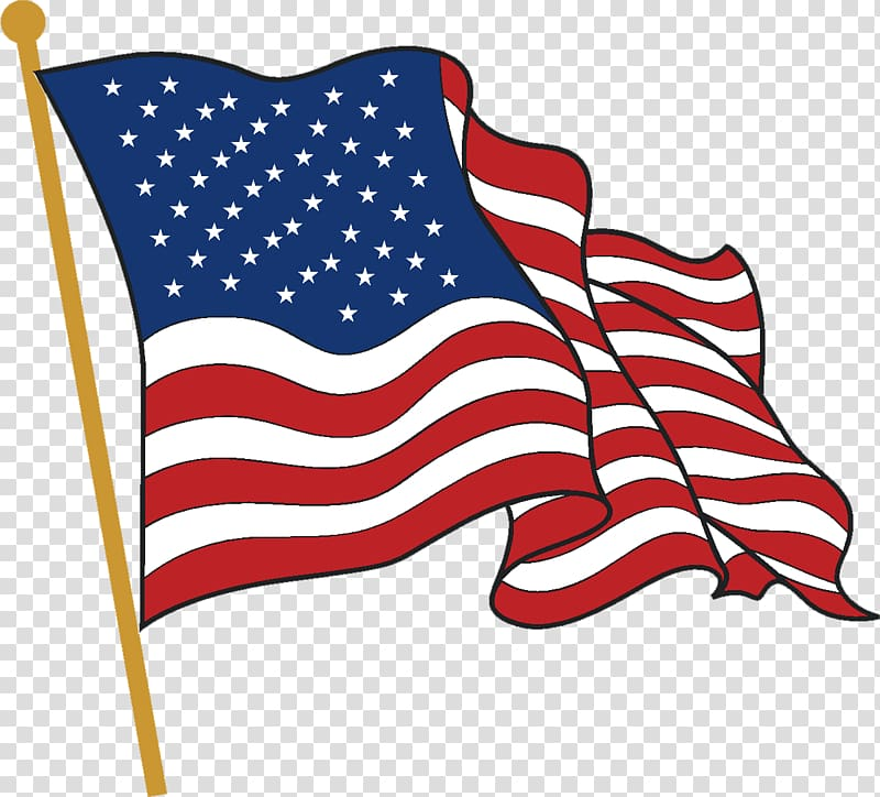 Flag of the United States , usa flag transparent background.