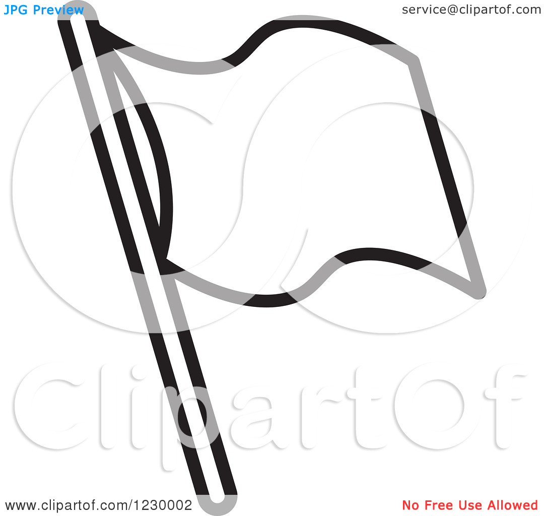 Flag Clipart Blank Black And White.