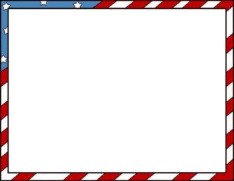 Flag Veterans Day Clipart Border.
