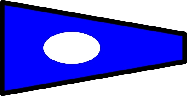 Nautical Signal Flag clip art Free vector in Open office drawing.