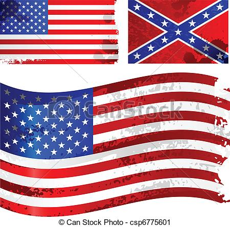 Vector Clip Art of Grunge american flag csp6775601.