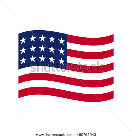 American Flag Stock Images, Royalty.