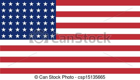 Clip Art Vector of US Flag WWI.