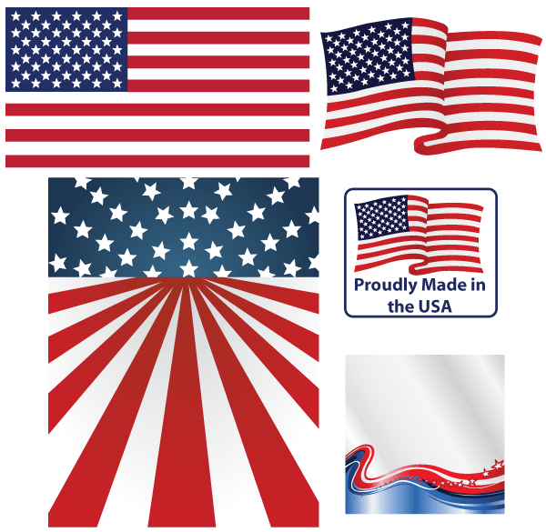 American Flag Vector Clipart Free.