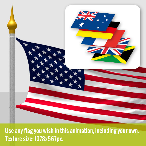 Waving Flag Cloth and Wind Simulation, 6 Flags inc by Scorp1.