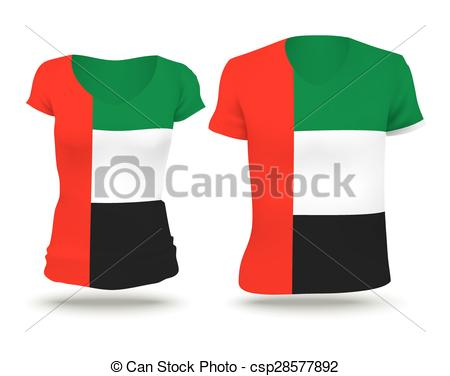 EPS Vectors of Flag shirt design of UAE.