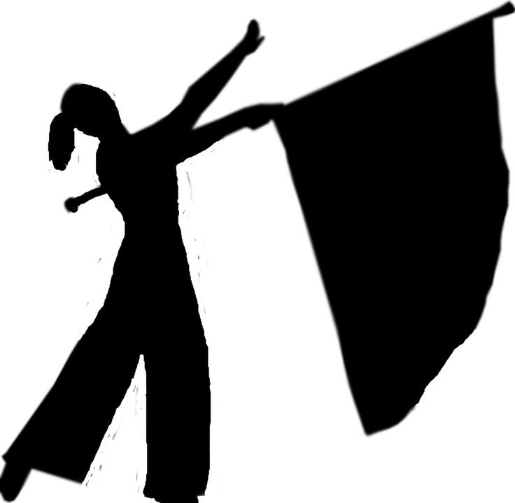 Free Color Guard Flag Silhouette, Download Free Clip Art.