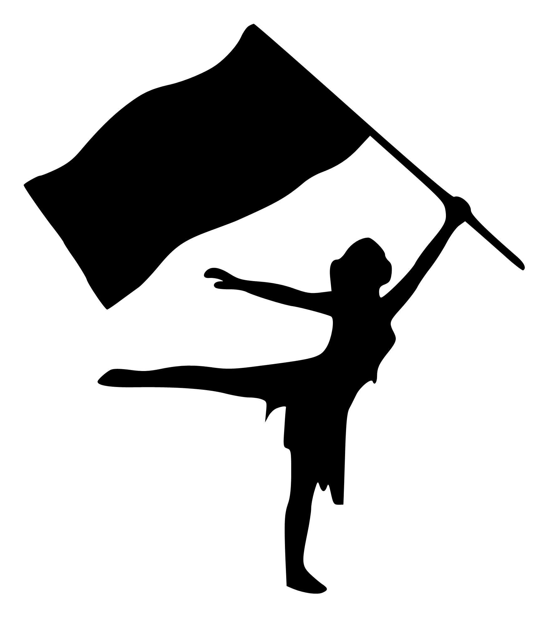 Color Guard Silhouette at GetDrawings.com.