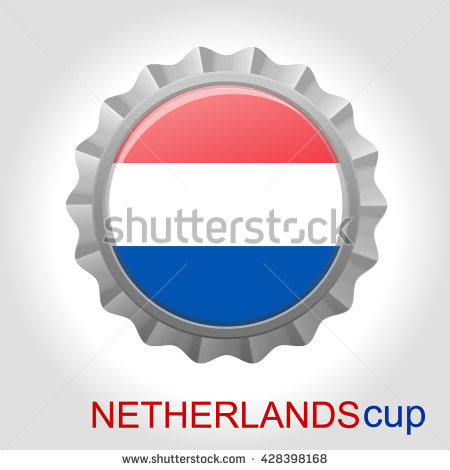 Netherlands Flag Cup Stock Vector Illustration 428398168.