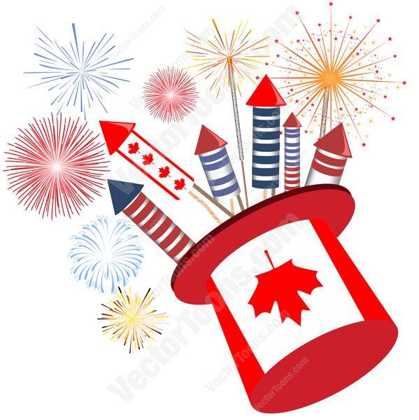 flag fireworks clipart #18