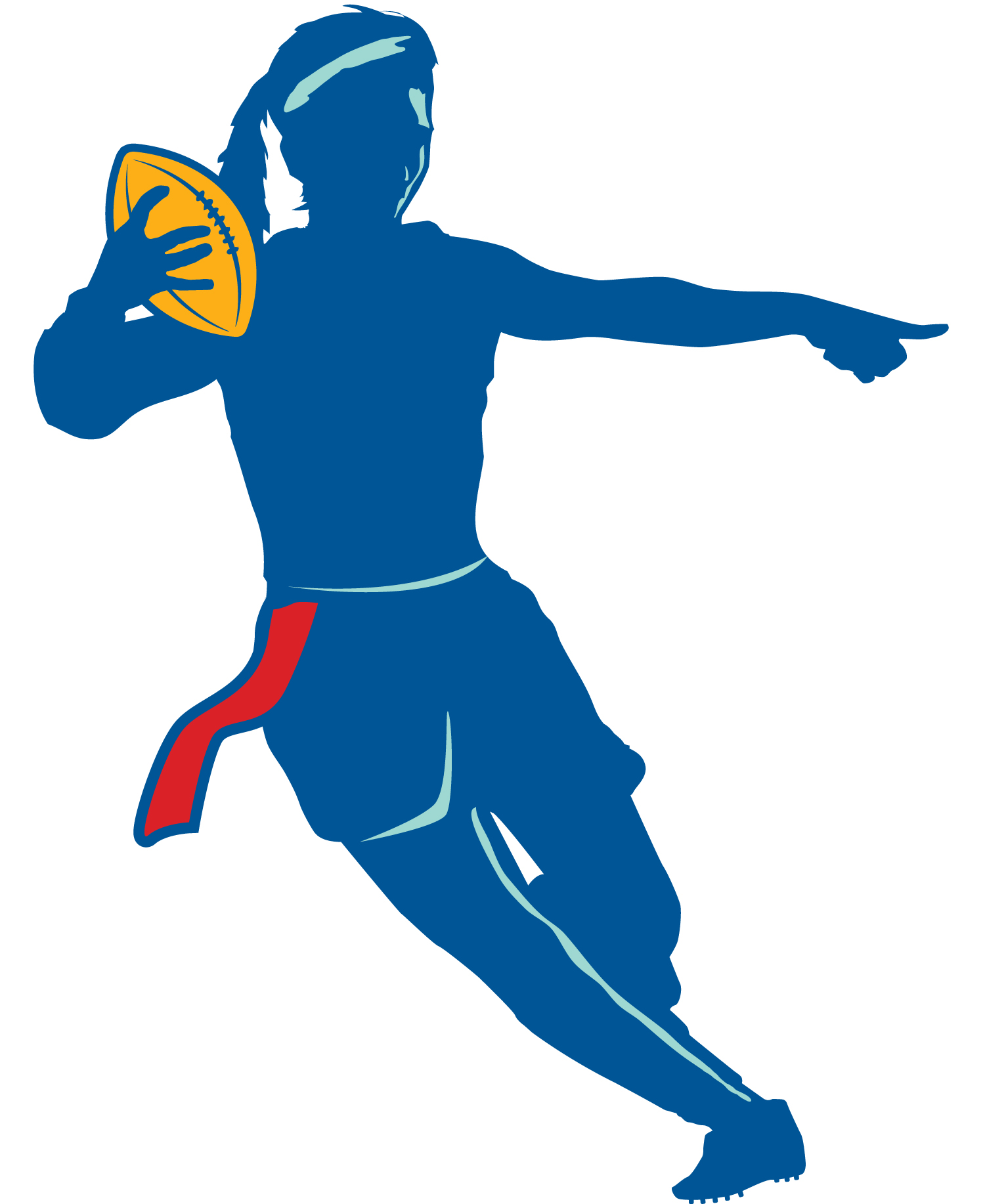 Flag Football Clipart Black And White.