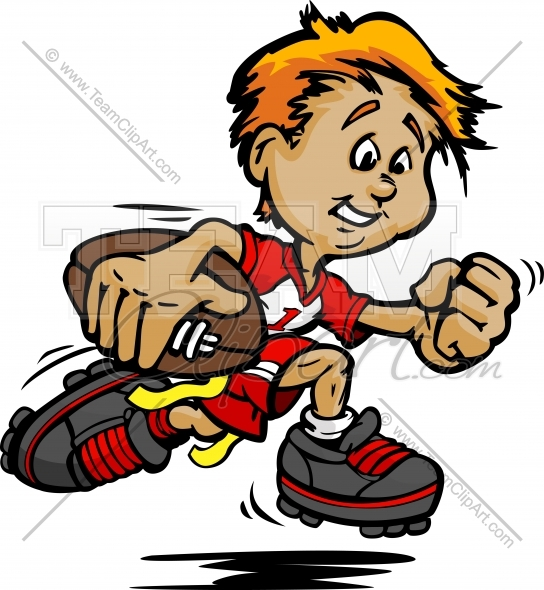 Flag Football Boy Clipart.