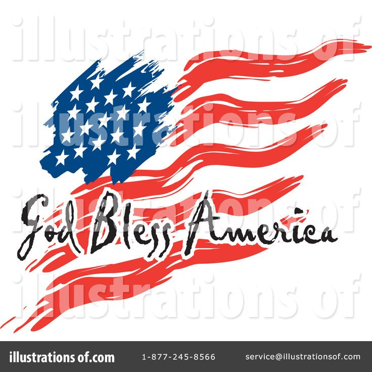 American Flag Graphics Clipart.