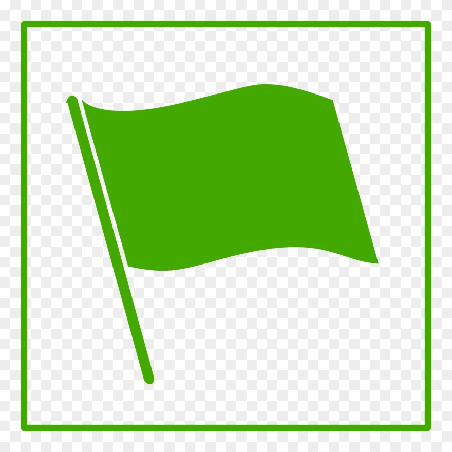 Green Flag Icon Clipart (#68806).