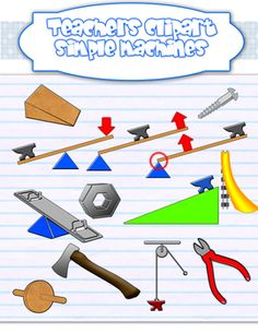 Simple machines clipart {Science clip art}.