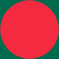 Flag Of Bangladesh clip art Free vector in Open office drawing svg.