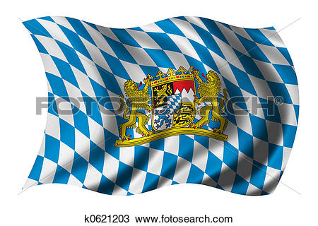 Drawing of Flag of Bavaria k0621203.