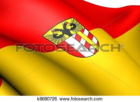 Stock Illustration of Flag of Bavarian Swabia, Germany. k8680726.