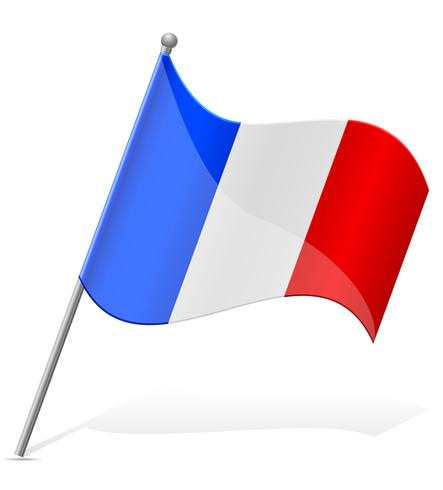 flag of France vector illustration.