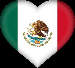 Mexico flag clipart.