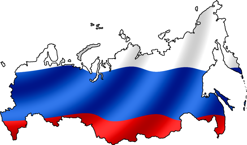 Russia Flag Map.