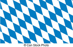 Drawings of Flag of Bavarian Swabia, Germany. Close Up.