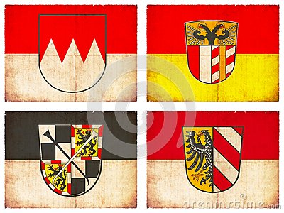 Set Of Flags From Germany #4 Stock Images.