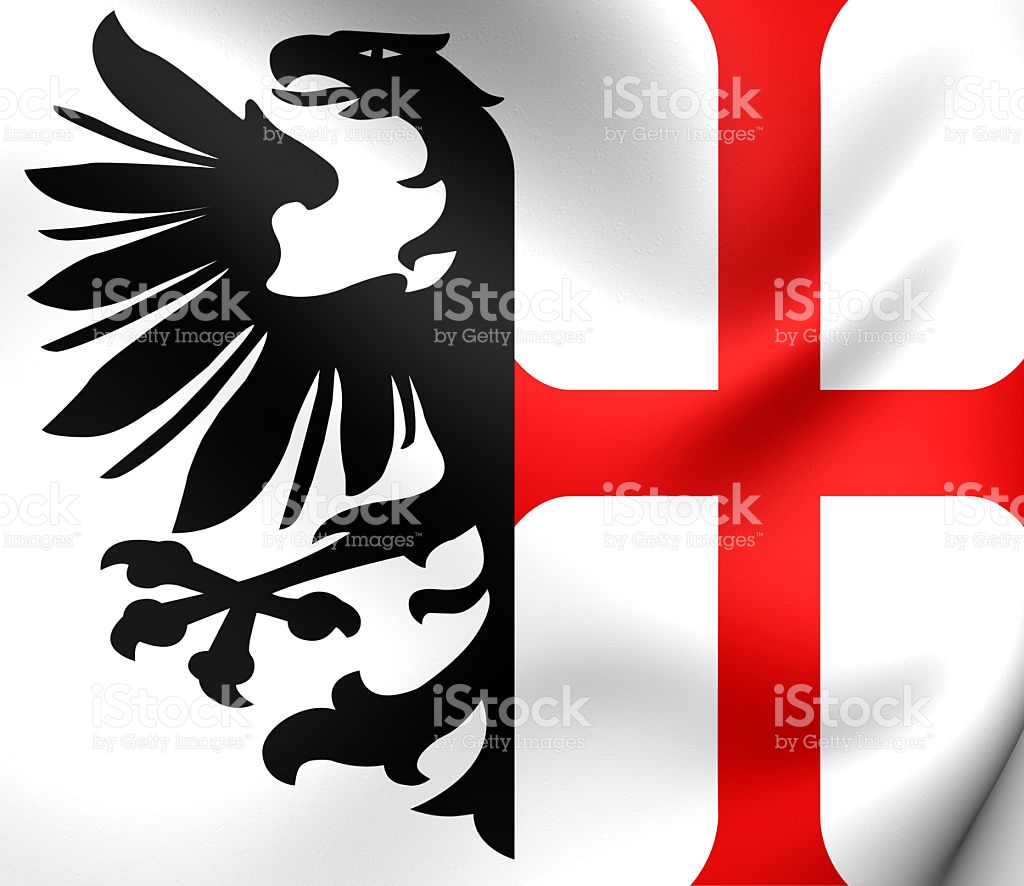 Free Imperial City Of Memmingen Flag Holy Roman Empire stock.