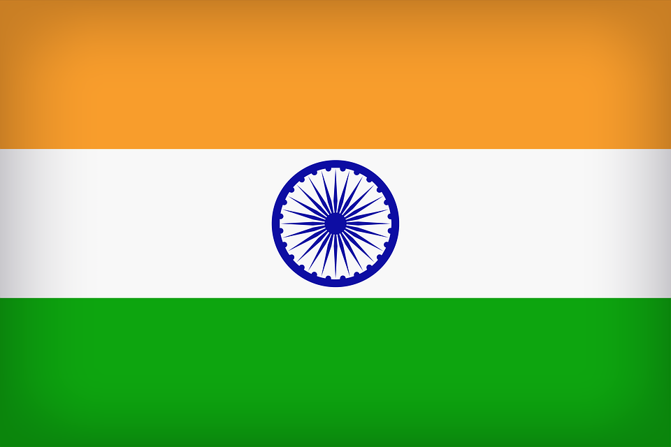 India Flag Country Background.
