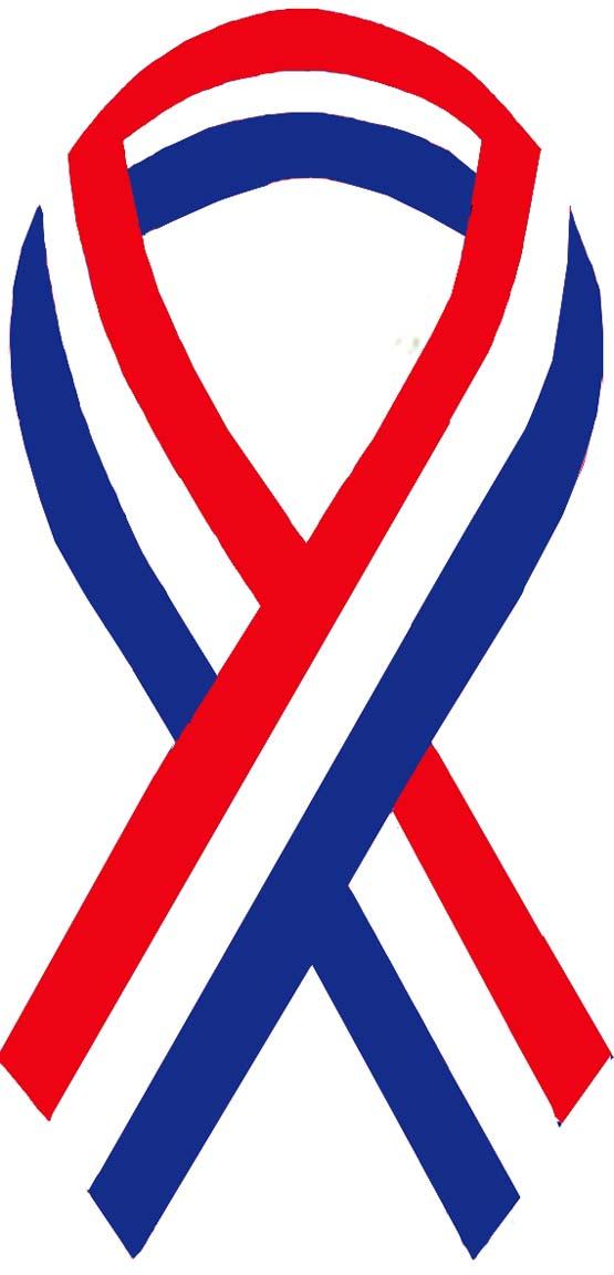 American Flag Ribbon Clipart.