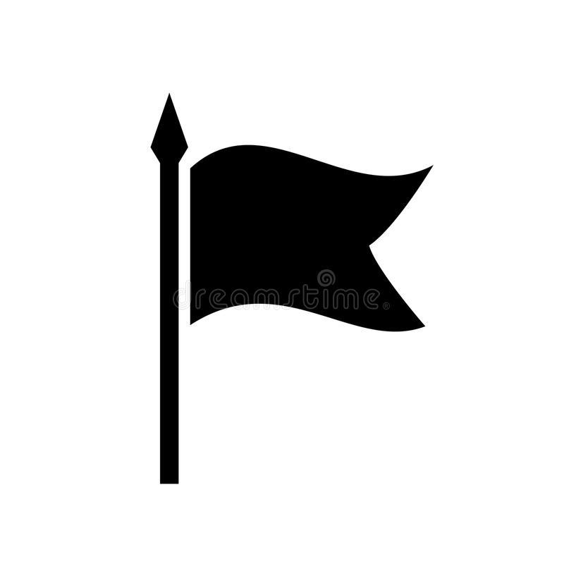 Black Flag Silhouette Stock Illustrations.