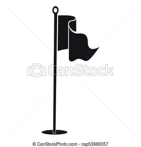 Golf flag silhouette.
