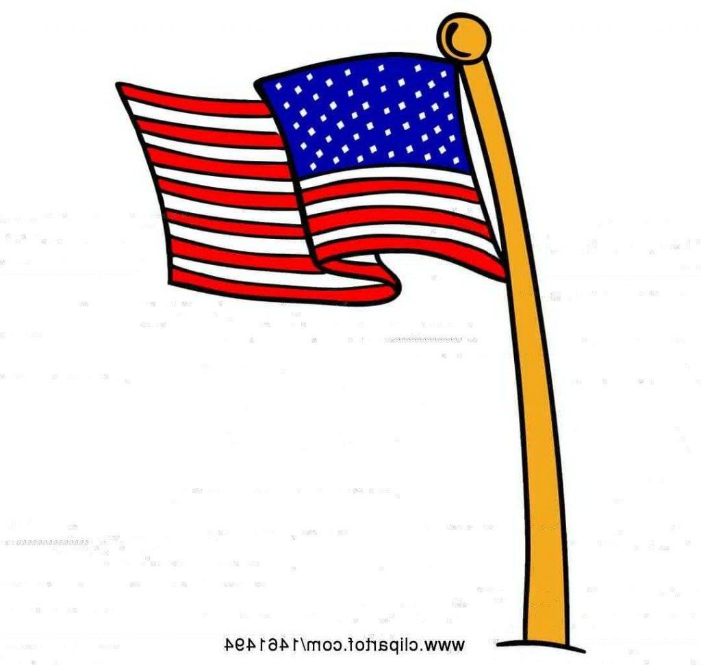 Clipart of cartoon american flag pole free vector jpg.