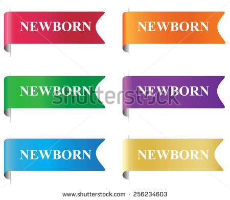 Newborn, Flag, Tag, Label, Badge, Sign, Clip Art Stock Photo.