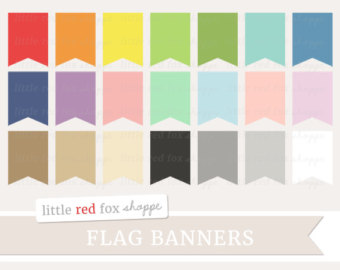 40 Ribbons Banner Set Clipart,colorful ribbon clipart,banner.