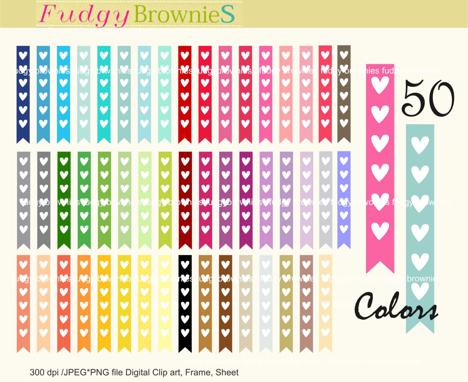 ON SALE hearts flag tag clip art rainbow tag clipart Tag T.