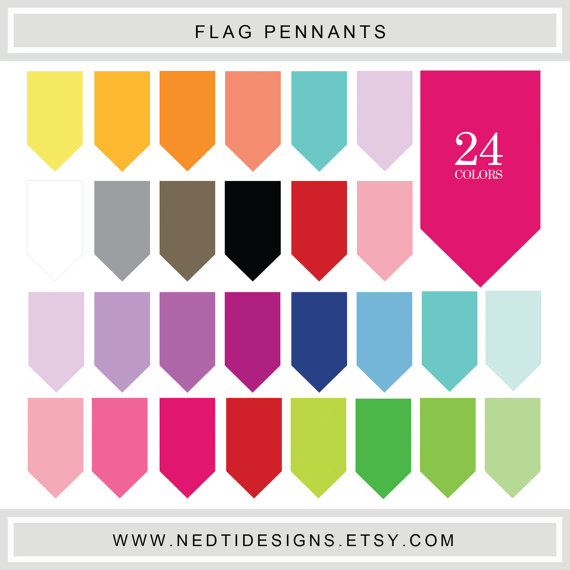 Flag Pennants Tag Rainbow Color Collage #tag #label #clipart.