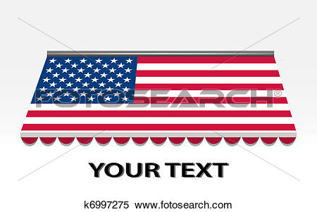 Clipart of usa flagged color vector awning k6997275.