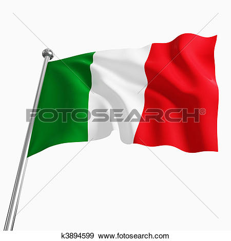 Clipart of background with Italian flag k13006891.