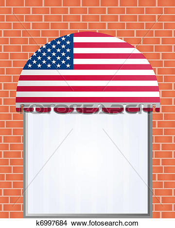 Clipart of usa flagged color vector awning k6997684.
