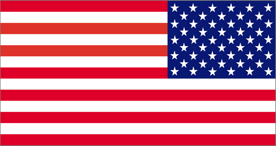 American flag clipart straight.