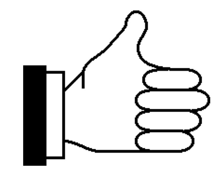 "Fonts Non Bitmapped ""thumb Up"" Symbol For Flagging ""good Clipart."