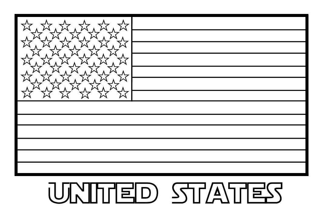 flag day clip art black and white.
