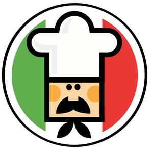 Italian Flag Man Clipart.