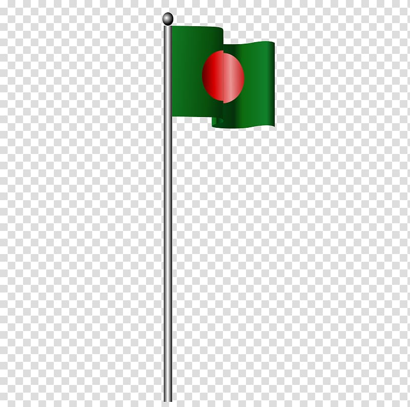 Flag of Bangladesh Flagpole , Flag transparent background.