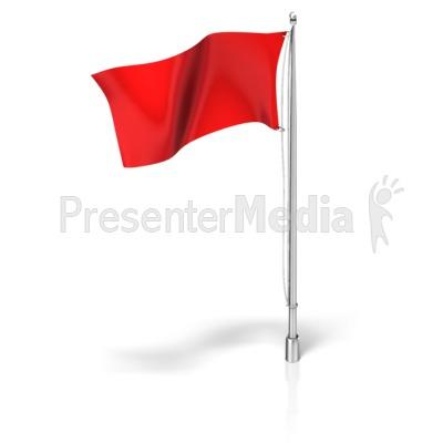 White Flag On Flag Pole.