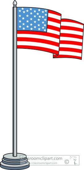 Flag poles clipart.