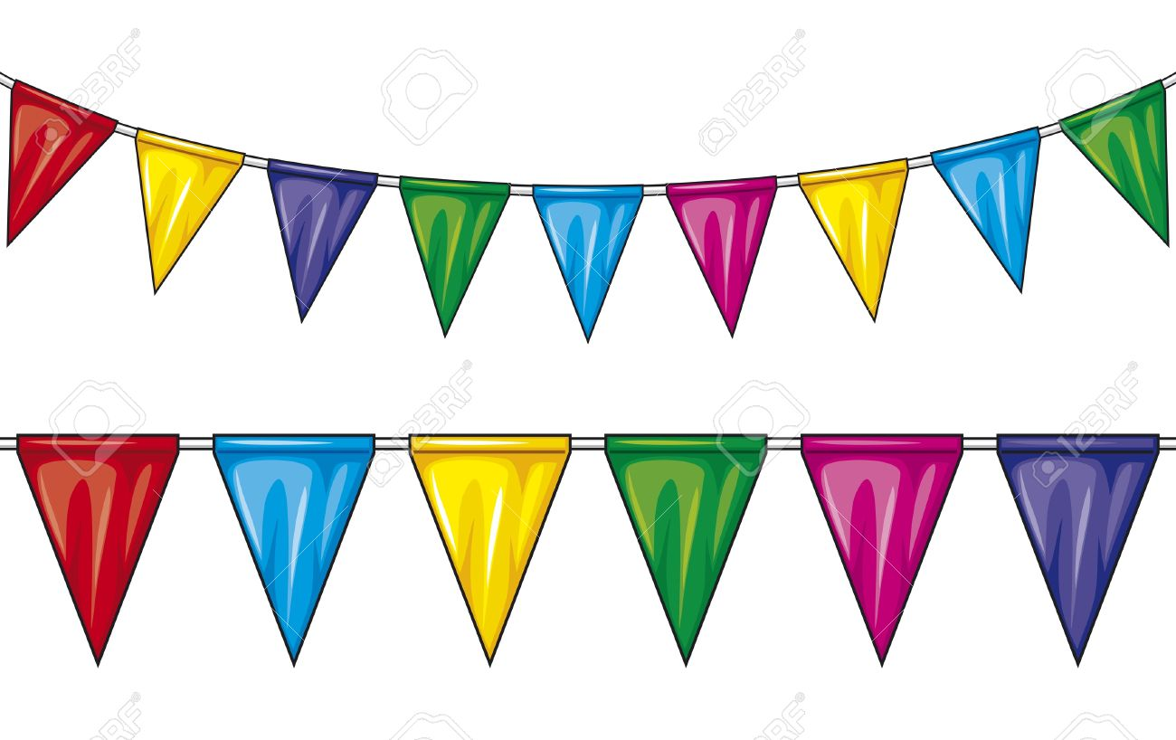 Party Flags Party Pennant Bunting, Bunting Flags Royalty Free.