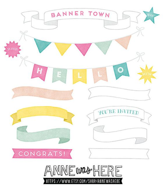 Banners, Pennants, Garlands, Flags and Stars.