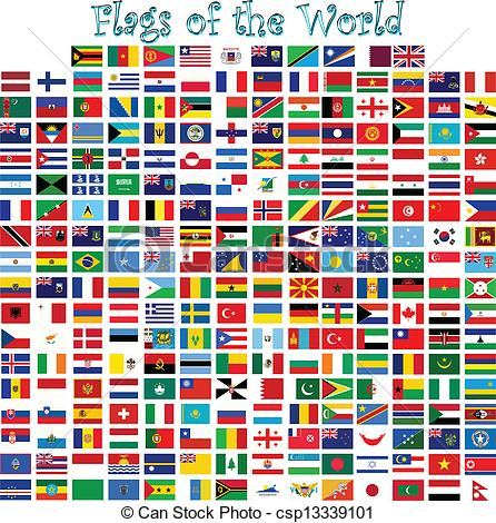 World flags clipart.